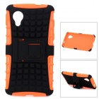 Protective TPU + PC Case w/ Holder for LG Nexus 5 - Black + Orange