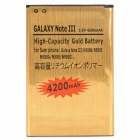 "Note 3-GD Replacement 3.8V ""4200mAh"" Battery for Samsung Galaxy Note 3 III N9000 + More - Gold"