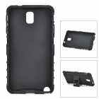 Protective TPU + PC Back Case Stand for Samsung Galaxy Note 3 N9000 - Black