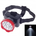 RL RL-1016 3W Rechargeable 9-LED 100lm 2-Mode White Light Headlamp for Hunting + More - Black + Red