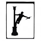 "Creative Dancing Man Pattern Decoration Sticker for MacBook 11"" / 13"" / 15"" / 17"" - Black"