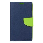Protective PU + Plastic Case w/ Stand for Samsung Note 3 - Black + Green