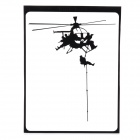 "Creative Helicopter Pattern Decoration Sticker for MacBook 11"" / 13"" / 15"" / 17"" - Black"