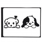 "Cute Dogs Pattern Decoration Sticker for MacBook 11"" / 13"" / 15"" / 17"" - Black"