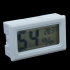 TL8015A 1.5'' LCD Display Mini Hygro-Thermometer / Temperature & Humidity Gauge without Wire - White
