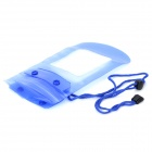 Waterproof Bag Pouch for Cellphone / Digital Camera / Certificate - Translucent Blue