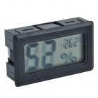TL8015A 1.5'' LCD Mini Digital Hygro-Thermometer / Wireless Temperature & Humidity Gauge - Black