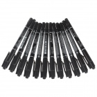 M&G MG-2130 Dual Heads Oil Pen - Black (12 PCS)