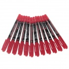 M&G MG-2130 Dual Heads Oil Pen - Red (12 PCS)