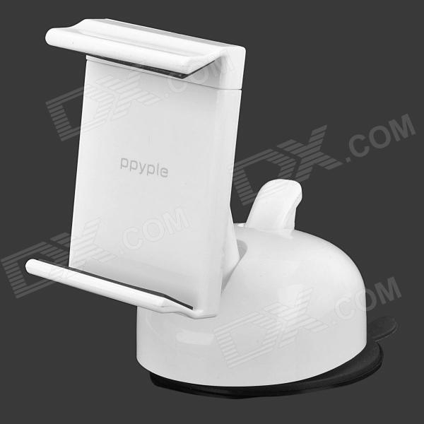 ppyple U3 360 Degree Rotational Car Mount Holder w/ Suction Cup for 3.5~5.5 Cellphones - White 360 degree rotational car mount holder w suction cup for samsung galaxy note 3 n9000 n9002