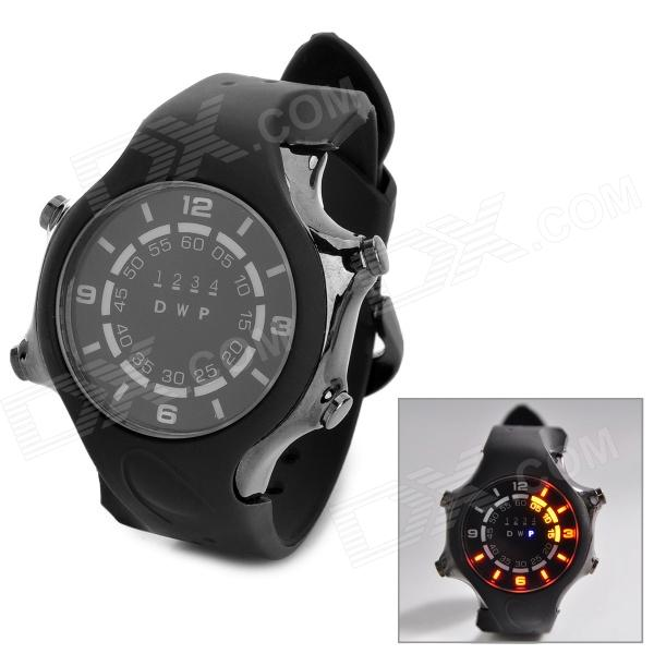 TVG KM-1202 Sport Zinc Alloy Digital Wrist Watch w/ Calendar / Timer / LED for Men - Black wireless restaurant calling system 5pcs of waiter wrist watch pager w 20pcs of table buzzer for service