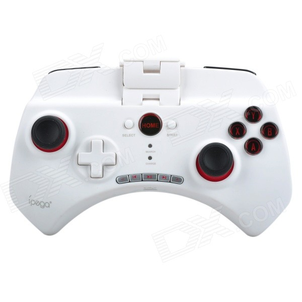 IPEGA PG-9025 Multimedia Bluetooth v3.0 + HS Controller for Cell Phone / Tablet PC - White ipega pg 9021 classic bluetooth v3 0 gamepad for iphone ipod ipad more black