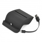S Style 2-in-1 USB Charging Dock + Battery Charger w/ USB Data Cable for Samsung i9200 - Black (5V)