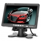 "Y-2-1 7"" TFT LCD Car Reversing Rearview Monitor w/ 2-CH Video Input + Remote Control - Black"