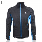 ARSUXEO AR13A Outdoor Sports Herren Fleece Warm Coat - Schwarz + Blau (Größe L)