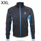 ARSUXEO AR13A Outdoor Sports Herren Fleece Warm Coat - Schwarz + Blau (Größe XXL)