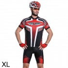 Mysenlan M01028 Outdoor Cycling Men's Short Sleeve Bike Jersey Clothes + Pants Suit (Size XL)