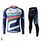Mysenlan M02005 Outdoor Cycling Men's Long Sleeve Bicycle Jersey Clothes + Pants Suit (Size L)