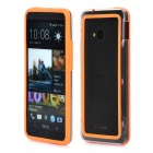 Protective Plastic Bumper Frame for HTC One M7 - Orange + Transparent