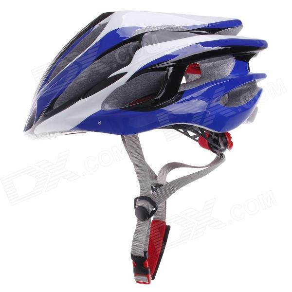 TITANS CG03DG-002 Outdoor Bicycle Cycling Helmet - Blue + White + Black (Size-L)