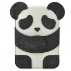 Mini0323 Super Thin Cute Cartoon Panda Style Felt Fabric Pouch for Ipad MINI - Deep Grey + White