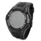 FR8202B Multifunction Sport Rubber Digital Wrist Watch w/ Compass / Barometer + More - Black
