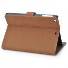 Protective PU Leather Smart Case w/ Stand for Retina Ipad MINI - Deep Brown