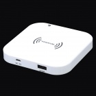 "Touch Panel Wirelesss Charger w/ ""3500mAh"" Power Bank - White"