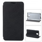 PuDiNi E508 Flip-Open PU + PC Case w/ Stand for Samsung Galaxy Note 3 - Black