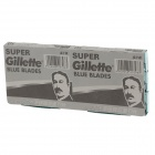 Gillette Super Stainless Steel Dual Blades - Silver (5 x 20PCS)