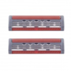 Apache Replacement Three Blades Steel Shaving Razor Cartridges - Grey + Orange (2 PCS)