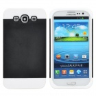 NX CASE Detachable Protective PC + TPU Back Case for Samsung Galaxy S3 i9300 - Black + White