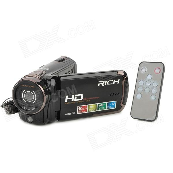 RICHF HD-R471 3.0 TFT 5.0MP CMOS Mini Digitale zoomen Video Camera w - SD - Mini USB - Zwart