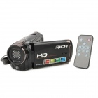 "RICHF HD-R471 3.0"" TFT 5.0MP CMOS Mini Digital Zooming Video Camera w/ SD / Mini USB - Black"