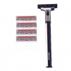 Apache X3 Replacement Three Blades Steel Shaving Razors - Black+Silver