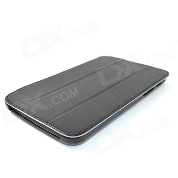 ZY-801 Protective PU Leather Case Cover Stand for Samsung Galaxy Tab 3 P3200 - Black