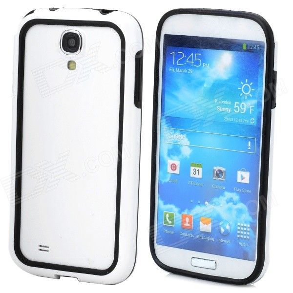 Protective Bumper Frame for Samsung Galaxy S4 i9500 - White + Black