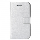 Silk Style Protective PU Leather + Plastic Case for Iphone 4 / 4S - Silver