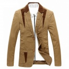 CJ203 Casual Men's Thicken Suit - Khaki (Size-XL)