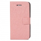 Silk Style Protective PU Leather + Plastic Case for Iphone 4 / 4S - Pink