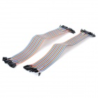 DIY 1-Pin Female to Female Breadboard Dupont Cables (2 x 40 PCS / 30cm)
