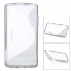 S Pattern Protective Plastic Case for LG Nexus 5 / E980 - Translucent Grey