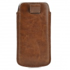 PU-5 Protective Pouch Bag Case for Iphone 5 / 5c / 5s - Brown
