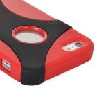 2-in-1 Detachable Plastic Back Case for Iphone 5 - Black + Red