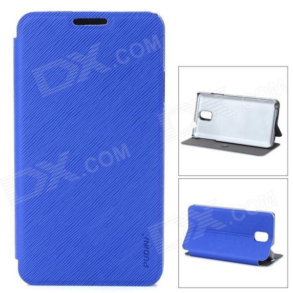 PuDiNi Protective Flip-open PU + PC Holder Case for Samsung Galaxy Note 3 - Blue pudini protective flip open pu pc holder case for samsung galaxy note 3 blue
