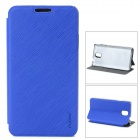 PuDiNi Protective Flip-open PU + PC Holder Case for Samsung Galaxy Note 3 - Blue