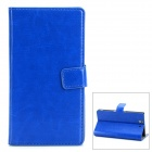 Protective PU Leather Flip-open Holder Case for Sony L36h - Royalblue