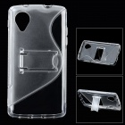 S Pattern Protective Plastic Case for LG Nexus 5 / E980 - Transparent
