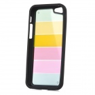 Ultrathin Colorful Protective Plastic + TPU Back Case for Iphone 5C - Black + Multicolor