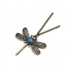 Vintage Fashionable Dragonfly Style Women's Sweater Chain Necklace - Multicolored